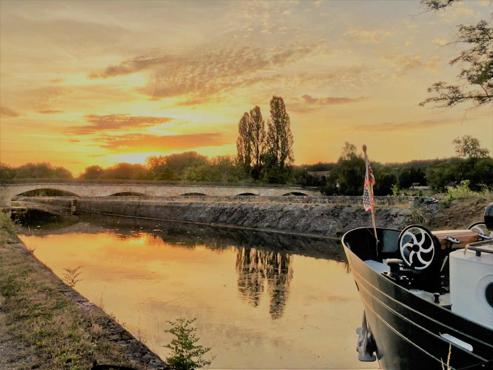 Sunset on the Nivernais